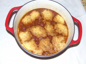 Spicy Beans and Dumplings