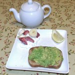 Toast with Avocado and Cottage Cheese with Fruit